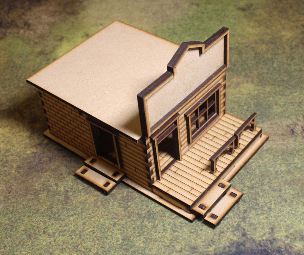 D045 Old West Cowboy Building SHERIFF'S OFFICE with CELLS 25mm 28mm Terrain
