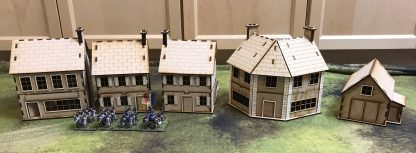 Rue de Guerre set - Normandy 28mm mdf buildings - meant for Napoleonic, Great War, WWII (WW2), and more