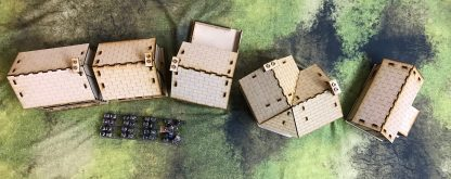 Rue de Guerre set - Normandy 28mm mdf buildings - meant for Napoleonic, Great War, WWII (WW2), and more Bolt Action Terrain